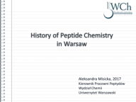 History of Peptide Research in Warsaw